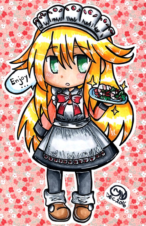 100% Orange Juice - Meido Shrimp by Imimi-Ai