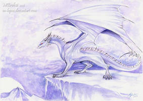 Ice Dragon by m-lupus