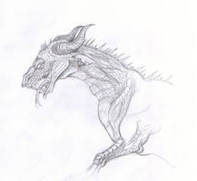 Red Dragon - Sketch by m-lupus