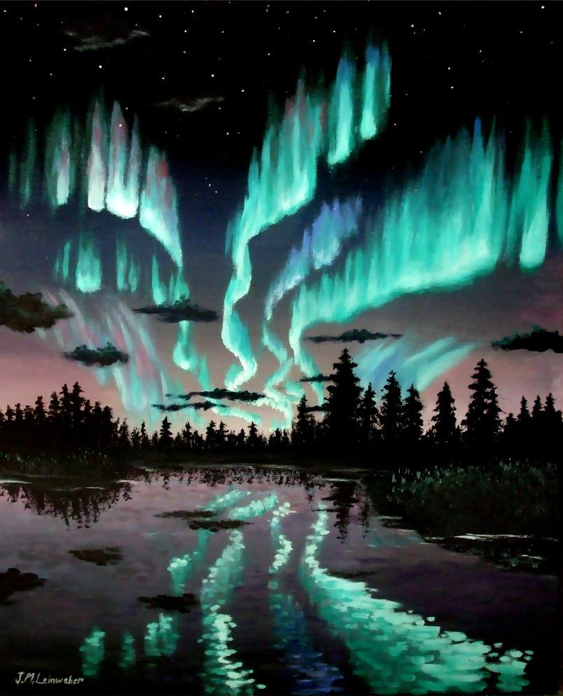 Aurora Borealis by BadBats