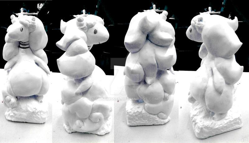 Mega Ampharos sculpture WIP by Togekisser