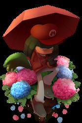 :CM: Rainy Day with Hydrangeas
