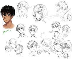 Yuri on Ice Doodles by JG-Callie