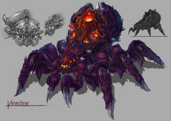 Monster design-Arachne by Cawang