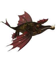 STOCK PNG  dragon fish by MaureenOlder