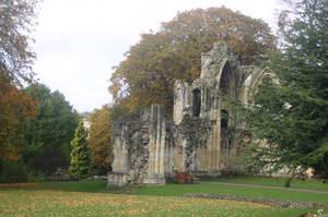 STOCK PHOTO autumn ruin 4 by MaureenOlder