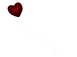 STOCK PNG red balloon 2 by MaureenOlder
