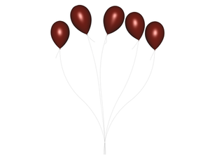 STOCK PNG red balloon 3
