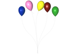 STOCK PNG multi colour balloon