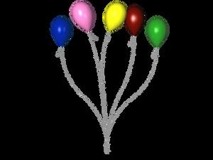 STOCK PNG multi colour balloon