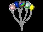STOCK PNG multicolour balloon2