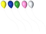 STOCK PNG coloured balloons