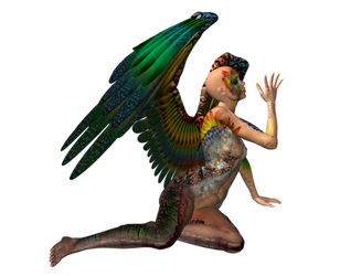 STOCK PNG angel of colour by MaureenOlder