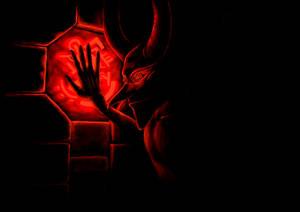 Imp in darkness