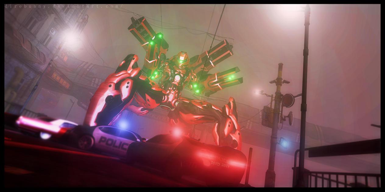 Outlaw laser robo geek by direbunny
