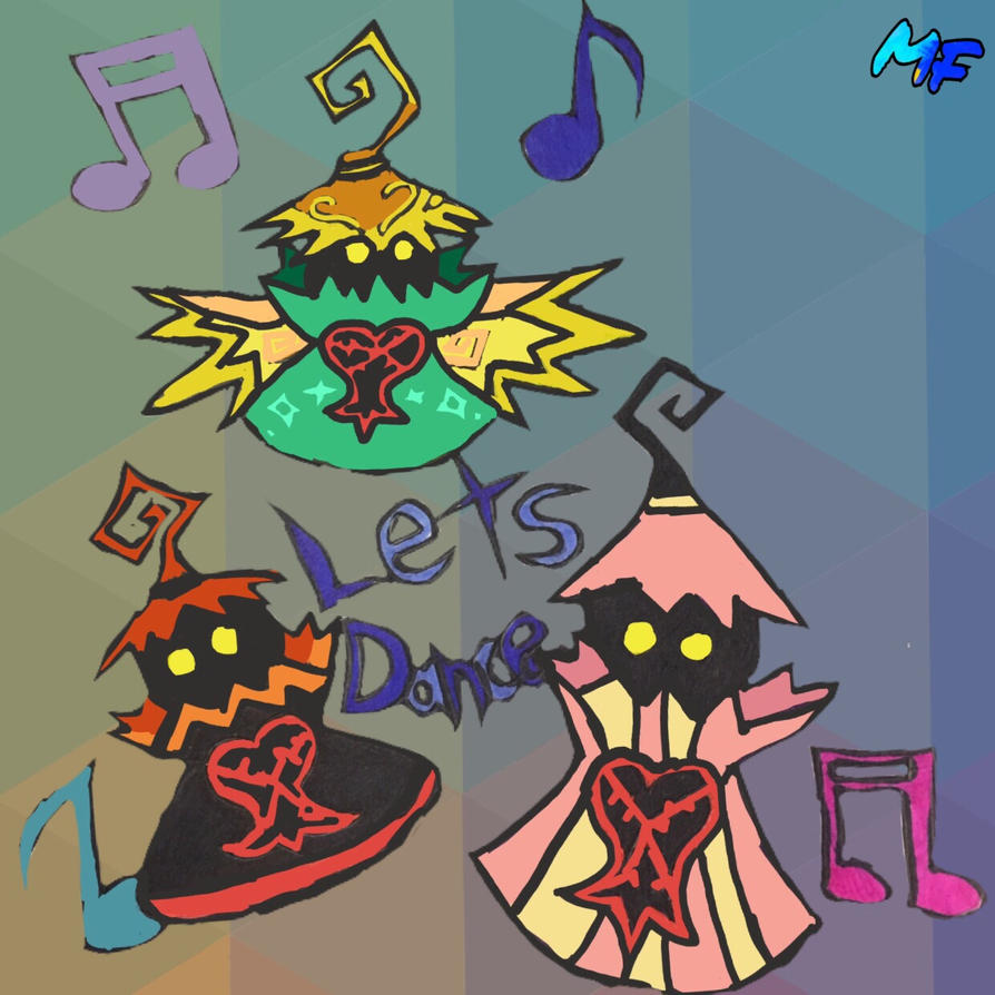Heartless dance party by MysticFantasy1996