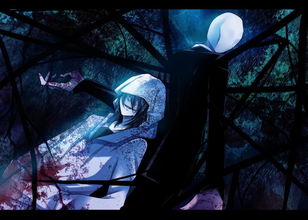 slender man and jeff the killer by gatanii69
