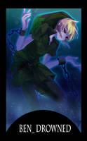 creepy pasta card 5th BEN Drowned by gatanii69