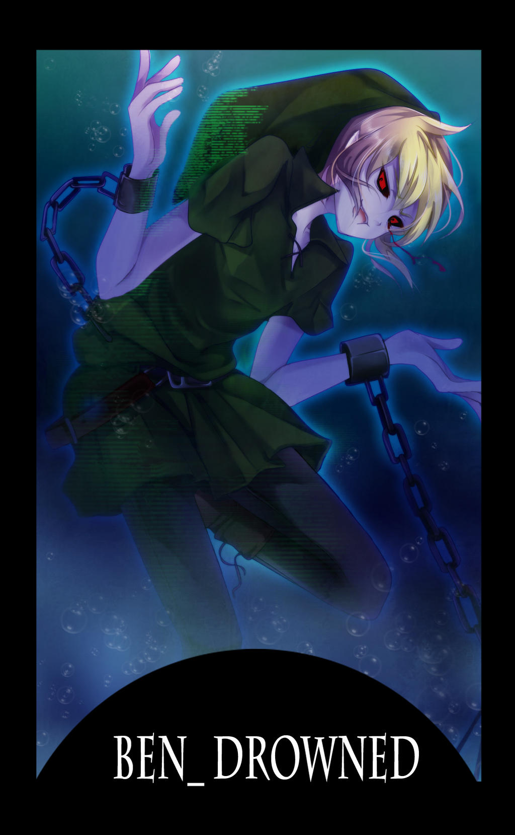 creepy pasta card 5th BEN Drowned by gatanii69