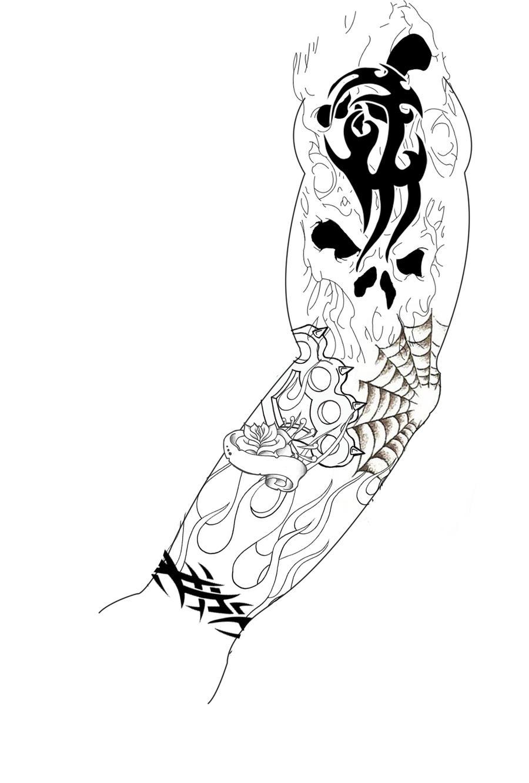 sleeve tattoo design by guitar master 101 on deviantart. Black Bedroom Furniture Sets. Home Design Ideas