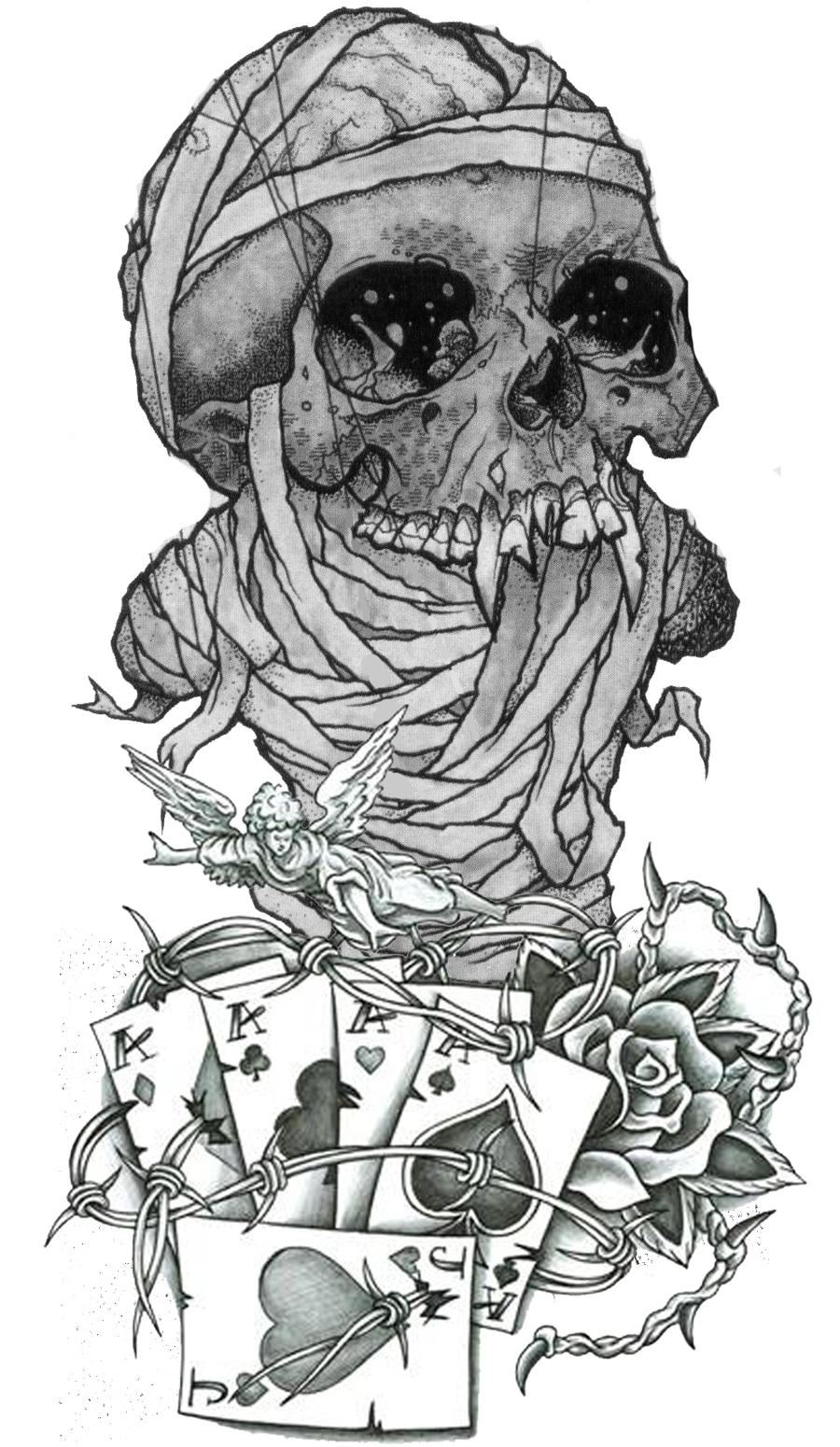 pushead skull tattoo design by guitar master 101 on deviantart. Black Bedroom Furniture Sets. Home Design Ideas