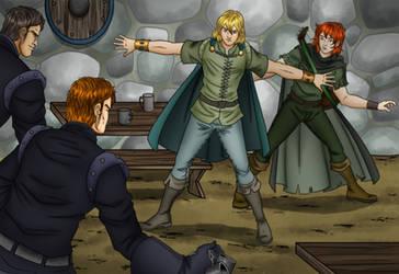 Kvothe 's arrest by Carnath-gid
