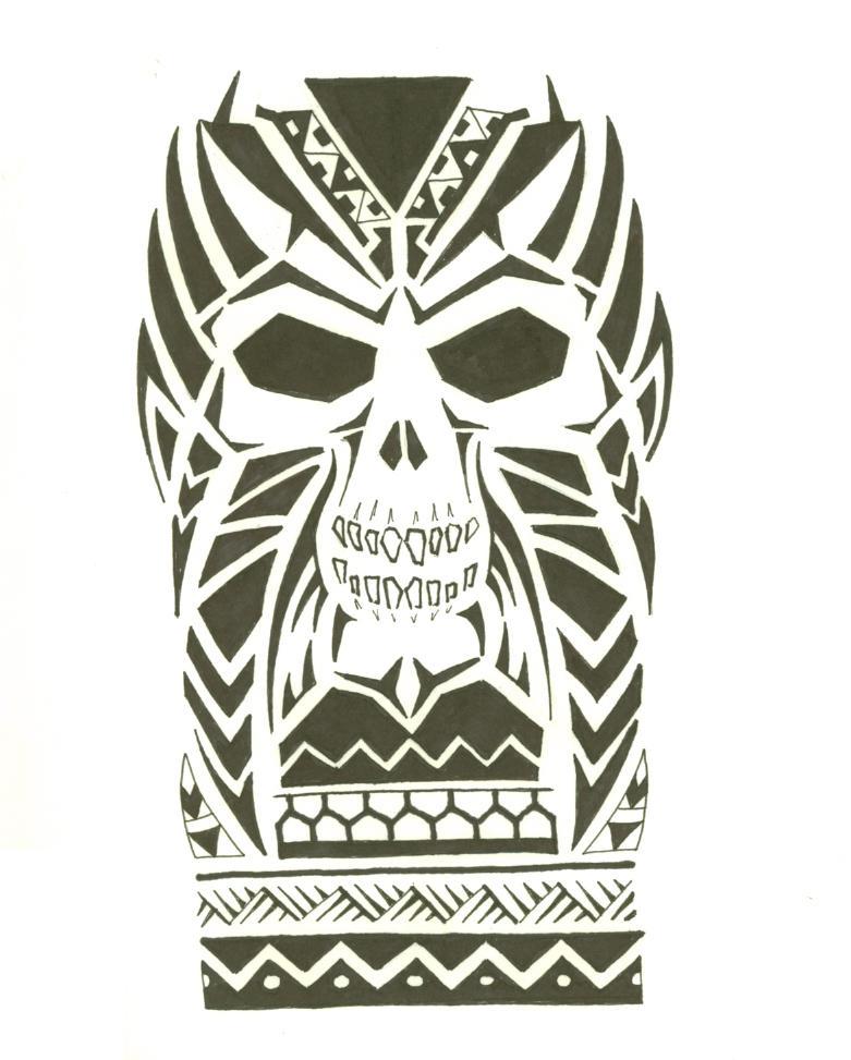 Maori Tattoo Designs Wallpaper: Maori Skull 01 By Mr-Disaster On DeviantArt