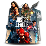 Justice League pseudo3D vertical movie folder icon