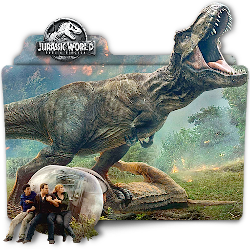 Jurassic World Fallen Kingdom movie folder icon v2 by zenoasis on