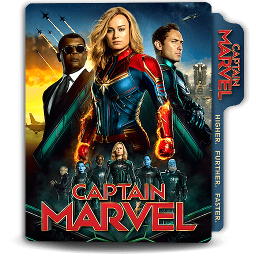 Captain Marvel movie folder icon v8 by zenoasis on DeviantArt