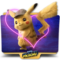 Pokemon Detective Pikachu movie folder icon v6 by zenoasis