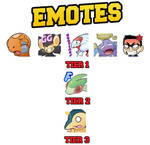 Pack of emotes for Koffingsonriente by Blessed-DICE