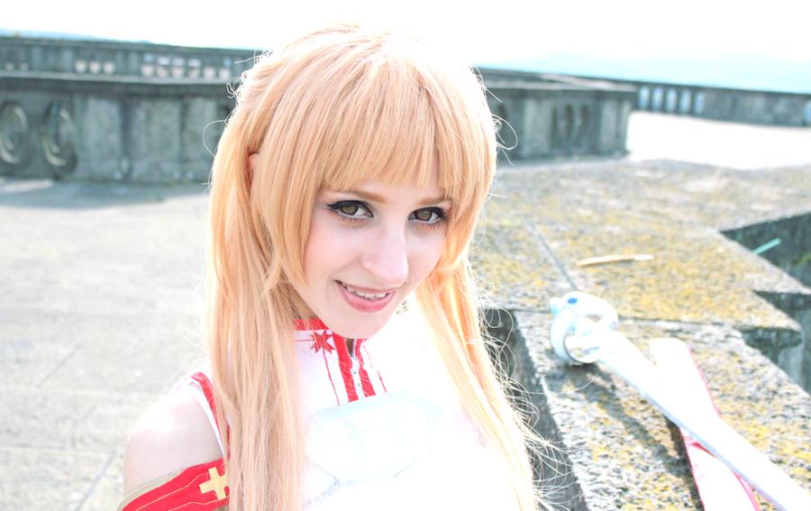 Asuna Yuuki Sword Art Online Cosplay Costume by Ka-ze-na