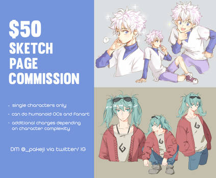 [open] sketch page commissions