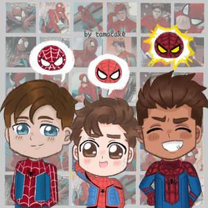 Chibi : 3 Spider-man / Spider-man Trio (Peter P)