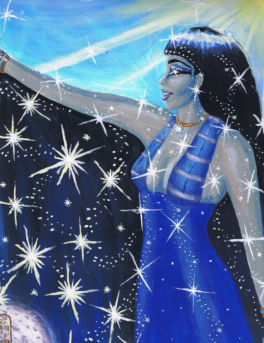 Nut, Goddess of the Sky by MyWorld1 - 326.4KB