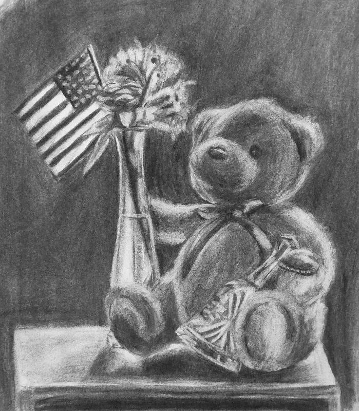 Teddy Bear And Vase By Myworld1 On Deviantart