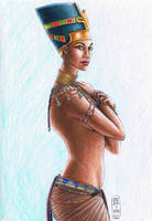 Nefertiti, Queen of Egypt by MyWorld1