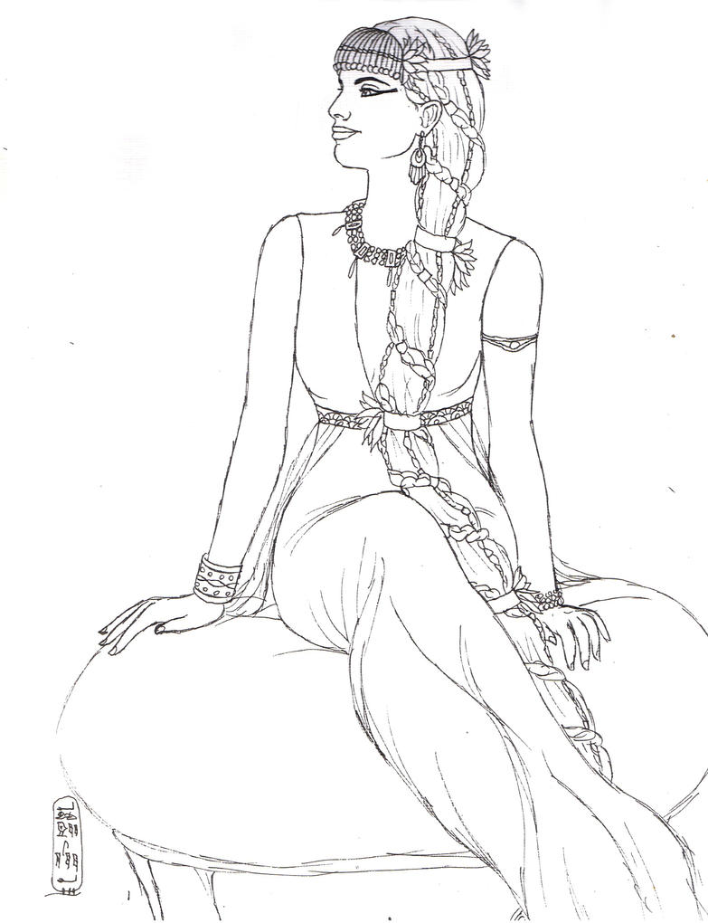 egyptian women coloring pages - photo#25