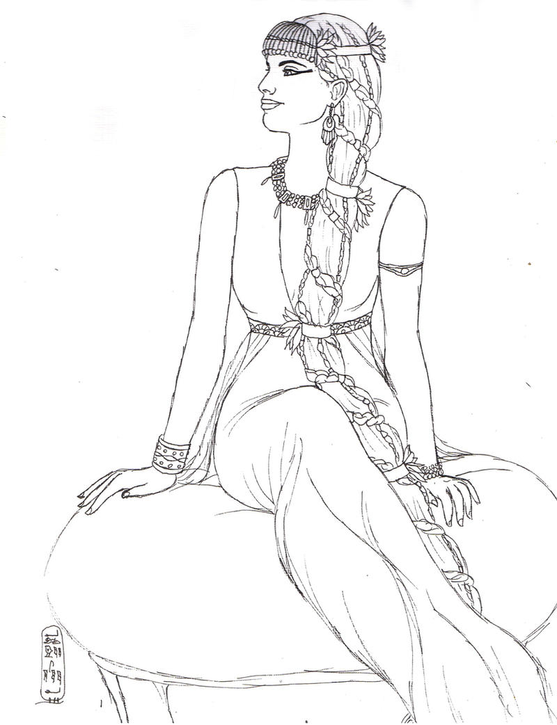 Ancient egyptian rupunzel lineart by myworld1 on deviantart for Ancient egypt coloring pages