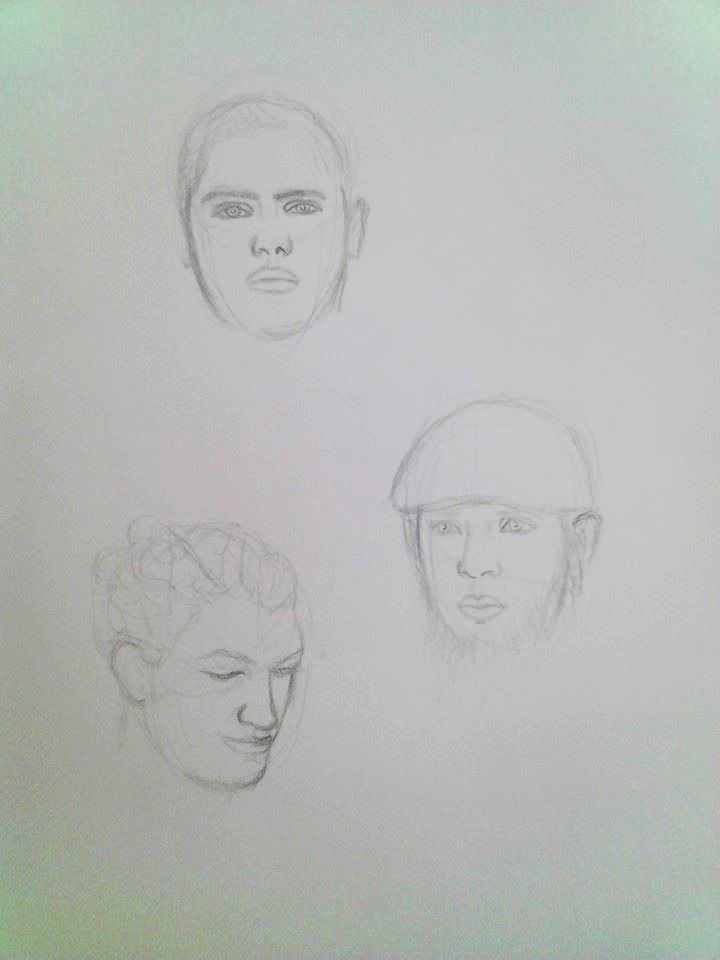 Five Minute Face Sketches