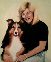 Client and her Dog by MyWorld1