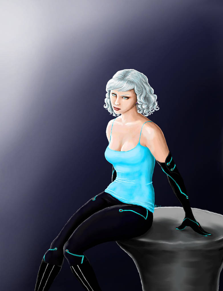 White Haired Sci-fi Lady by MyWorld1