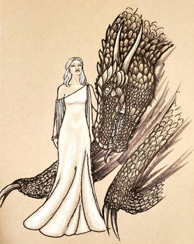 Dany and Drogon - Six Fan Arts Challenge