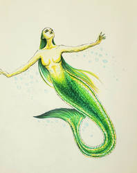 Green Mermiad - MerMay 2020