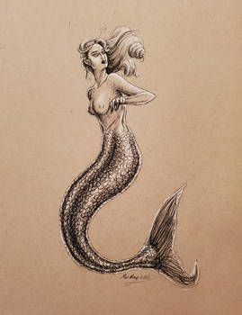 Startled Mermaid - MerMay 2020