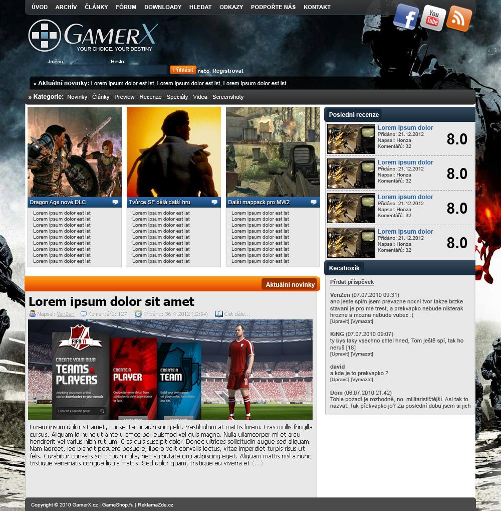 GamerX portal