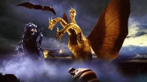Godzilla, Rodan, and Mothra vs King Ghidorah