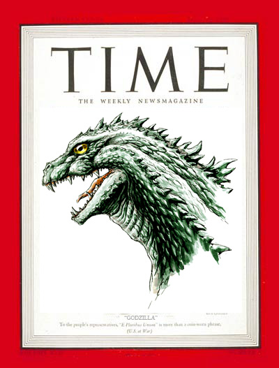 Godzilla on Times Magazine by ultimategodzilla