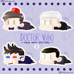 NewWho Doctors Sticker Set by MsRandom1401